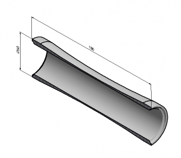 curved fork cover dimensions