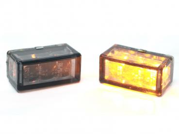 24mm cube turn signal led dark smoke