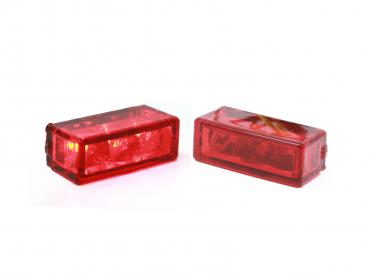 LED taillight red glas
