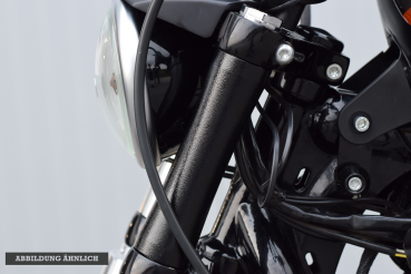fork cover – Sportster 48 – curved – 2010 - 2015 – 39mm fork - black gloss
