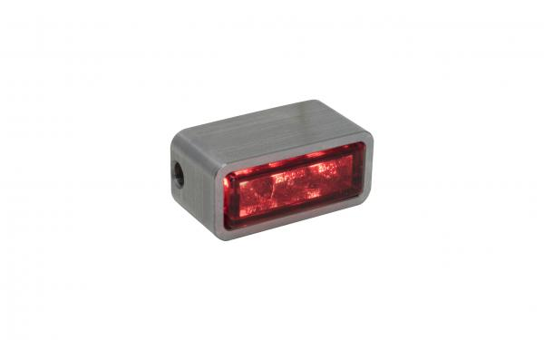 Taillight red LED glas