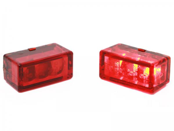 24mm Cube talllight red led