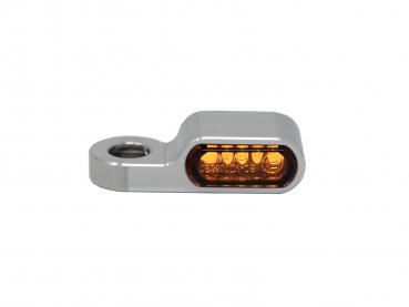 "aluminum turn signal / turn signal housing "" HARDES "" for 22 mm LED inserts"