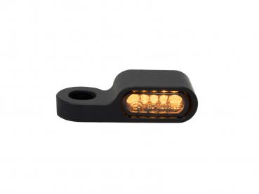 "black anodized turn signal / turn signal housing "" HARDES "" for 22 mm LED inserts"